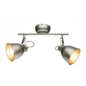 HERNAN Strahler Metall silver gray, 2xE14