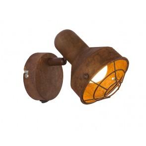 TYCHO Strahler Metall rostfarben, 1xE14 LED