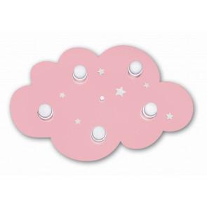 Wolke Länge 62 cm rosa 5-flammig rund