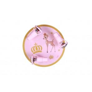 Deckenleuchte Rehli 3-flammig rosa-gold