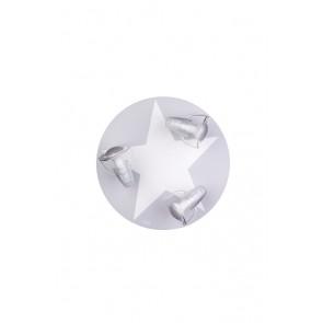 Deckenleuchte grau mit Stern weiß 3-flammig