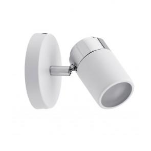 Spotlight Zyli IP44 max 1x10W GU10 Weiß/Chrom 230V Metall