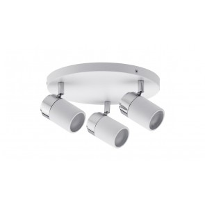 Spotlight Zyli IP44 Rondell max 3x10W GU10 Weiß/Chrom 230V Metall