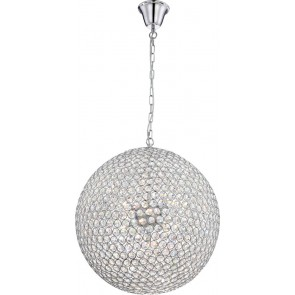 Emilia, LED, Ø 60 cm, Kristall, Chrom