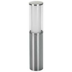 Sockelleuchte, E27, IP44, Höhe 50 cm, metallisch