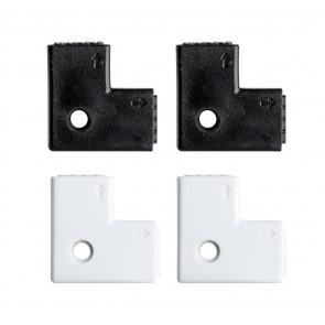 YourLED 90°-Eck-Verbinder, 4er Pack, weiß, schwarz, Kunststoff