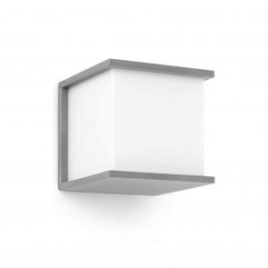 Kubick 16,5 x 16,5 x 16,5 cm grau 1-flammig würfelförmig