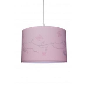 Silhouette Schmetterling, E27, rosa