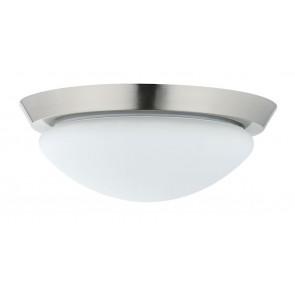 WallCeiling Ixa IP44 max18W 310mm E27 Eisen geb/Weiß 230V Metall/Acryl