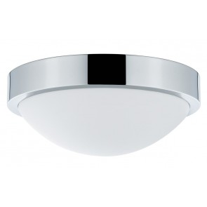 WallCeiling Falima IP44 max18W 260mm E27 Chrom/Weiß 230V Metall/Acryl