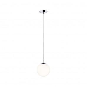 Globe 110 cm Satin/chrom 1-flammig