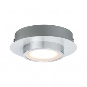 WallCeiling Liao LED 1x4,7W Weiß matt Chrom 230V