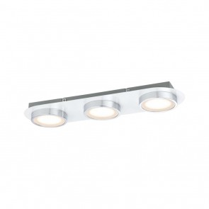 WallCeiling Liao LED 1x14,1W Weiß matt Chrom 230V