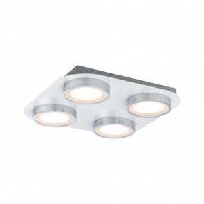 WallCeiling Liao LED 1x18,8W Weiß matt Chrom 230V