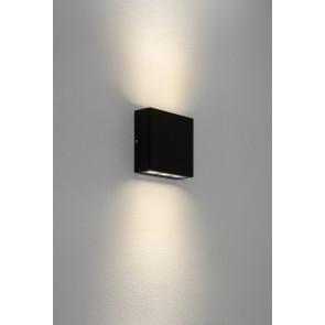 Elis Twin 14,1 x 14,1 cm schwarz 2-flammig quadratisch