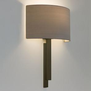 Tate ohne Schirm Höhe 38,4 cm bronze 2-flammig eckig
