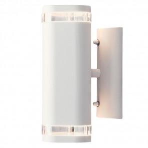 Modena Höhe 24 cm weiß 2-flammig zylinderförmig