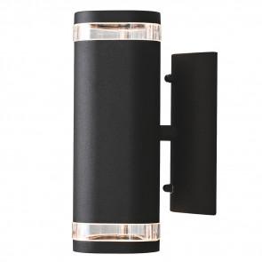 Modena Höhe 24 cm schwarz 2-flammig zylinderförmig