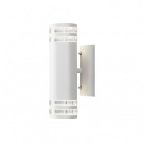 Konstsmide Modena Wandleuchte, Höhe 28,5cm, Weiß