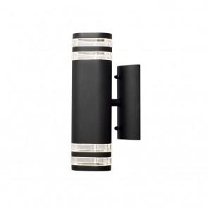 Konstsmide Modena Wandleuchte, Höhe 28,5 cm, Schwarz