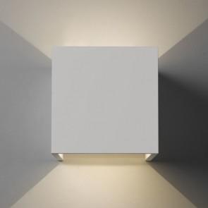 Pienza LED, weißer Gips, 2x LED 3W, 3