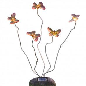 Assisi Solar Schmetterling, 5-flammig, blinkendes Licht
