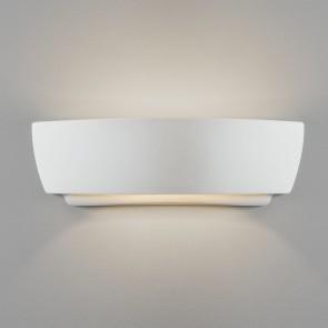 Astro Kyo Innenwandleuchte, Keramik weiß, 60w E27, IP20, Geeignet