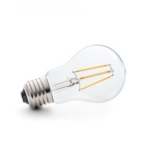 E27 LED Filament warm weiß, klares Glas 4W, 2700K, dimmable