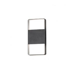 Matera,anthrazit, lackiertes Aluminium, gefrostetes Acrylglas