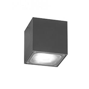 Cesena WL-DL anthrazit lackiertes Aluminium, klares Glas