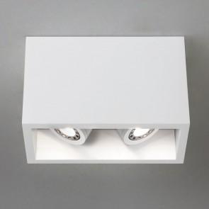Osca 140 Twin adjustable, 2 x GU10 LED 6w, Gip