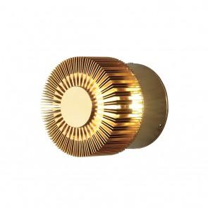 Monza Wandleuchte, Effekt, Ø 9cm, bronzefarben