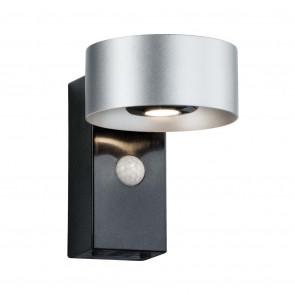 Cone Ø 11 cm silber/anthrazit 2-flammig mit Bewegungsmelder 3000K