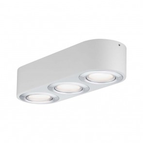 WallCeiling Argun LED 3x4,8W Weiß Alu gebürstet 2