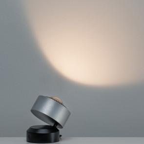 Aldan 10 cm Alu-gebürstet/schwarz 1-flammig