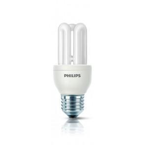 Energiesparlampe Genie, E27, warmweiß, 10000 Std, 8W