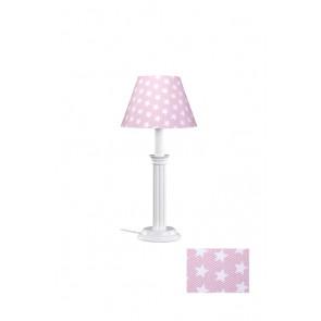Tischleuchte Sternchen rosa/weiß 1-flammig