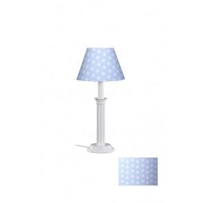 Tischleuchte Sternchen hellblau/weiß 1-flammig