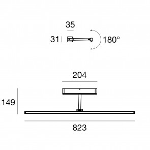 Straight Appl LED L820 19W Nero Rag