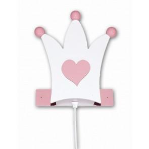 Krone Wall rosa-weiß
