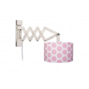 Wandleuchte Schere Bubbles XL rosé mit Schalter 1-flammig
