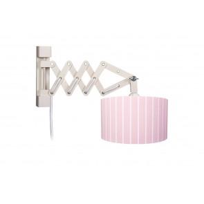 Wandleuchte Schere Stripes XL rosé mit Schalter 1-flammig