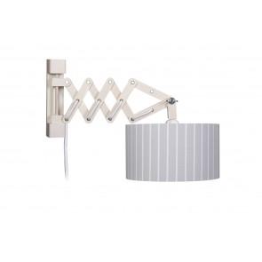 Wandleuchte Schere Stripes XL bleugrau mit Schalter 1-flammig