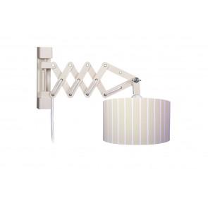 Wandleuchte Schere Stripes XL beige mit Schalter 1-flammig
