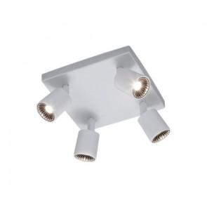 Cayman, 4-flammig, weiß, Breite 21 cm