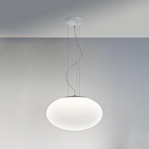 Zeppo Pendant 400 1 x E27 100W, weißes Glas