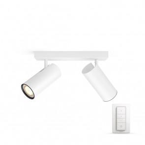 Buratto, LED, 2flg., 500lm, weiß, inkl. Dimmschalter