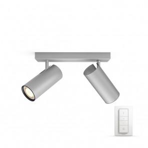 Buratto, LED, 2flg., 500lm, Aluminium, inkl. Dimmschalter