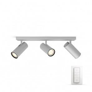 Buratto, LED, 3flg., 750lm, Aluminium, inkl. Dimmschalter