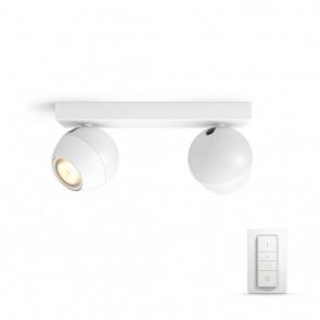 Buckram, LED, 2flg. 500lm, weiß, inkl. Dimmschalter